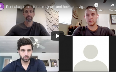 Webcast No. 2: Rent abatement, force majeure and how to navigate as a landlord during COVID-19